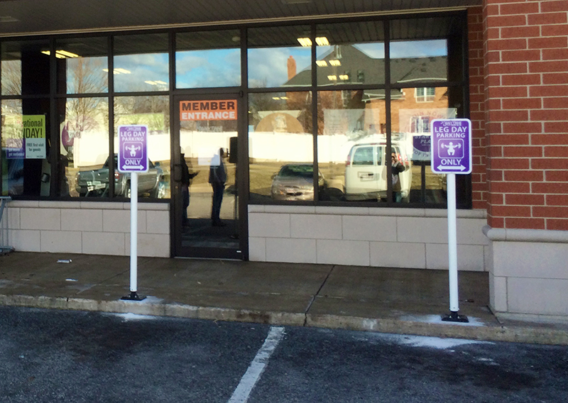 exterior signage - anytime fitness