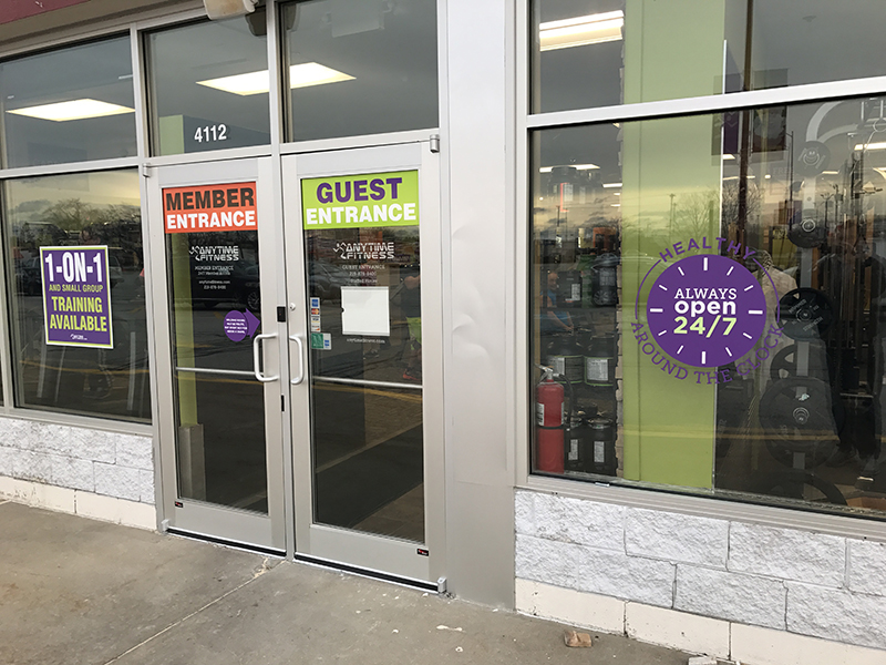 Doors Amp Windows Anytime Fitness Nwi Print Pro