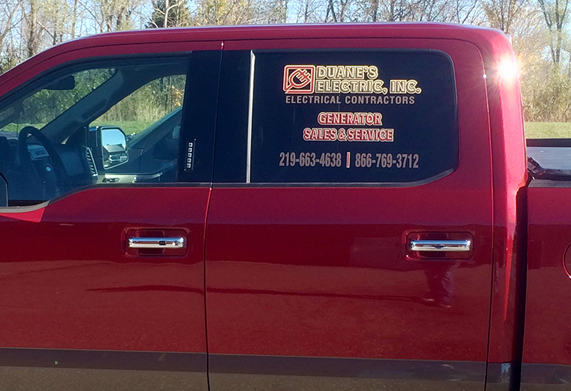 vehicle graphics duanes electric nwi print pro printing