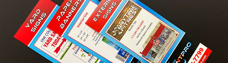 Examples of flyers that can help advertise your business completed by St. John Print company.